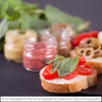 Dip-Teller - mit Oliven & Baguette